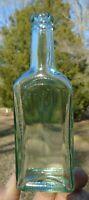 "Vintage Chas H Fletcher's Castoria Apothecary Medicine Bottle 5.75"" Tall"