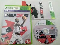 NBA 2k18 Xbox 360. Complete CIB Basketball Sports Used Video Game Tested 2018