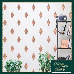 Diamonds Wall stickers ROSE GOLD Kids Room, Nursery Decor Bedrooms Wall Sticker