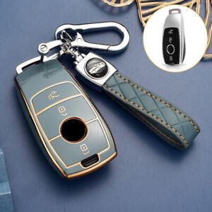TPU Car Key Shell For Mercedes Benz A C E S Class Remote Cover Case Holder Grey