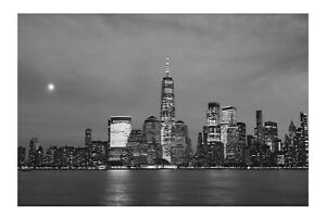 NEW YORK  cityscape nightime   PRINT canvas city USA manhatten