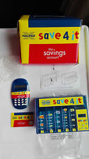Halifax Save 4 it Money box Coin sorter,Calculator and Card ~Blue~new and boxed