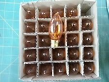 25 each Amber Twinkle Lights C9 1/4 intermediate Base Replacement  Bulb