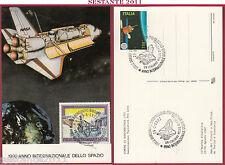 ITALIA MAXIMUM MAXI CARD UN ITALIANO NELLO SPAZIO NASA 1992 BORGONOVO B. TO C544