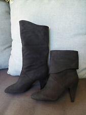 GUESS boots bottes talon cuir nubuck Noir T  40  -  BON ETAT