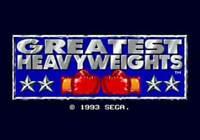 Greatest Heavyweights - Sega Genesis Game Only