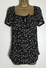 Dorothy Perkins Probe Maternity schwarz Blumenmuster Stretch Jersey Oberteil Größe 10