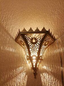 Moroccan wall light Sconce decoration oriental wall lamp Brass night light Fez