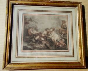 18th Century French Old Master Giles Demarteau Original Signed Etching