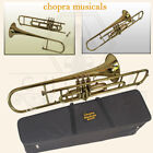 Trombone Shinning Brass 3 Valve with Mouthpiece with Case Fast- 3/2