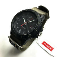 Men's Timex Military Expedition Solar Powered Green Canvas Watch TW4B14500