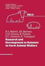 Tierhaltung Animal Management: Research and Development in Relation to Farm...