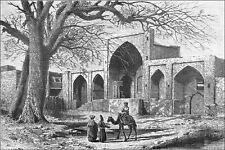 IRAN - TOMBEAU de NADIR-SHAH (Nader Khan Qirqlu Afshar)- Gravure du 19eme siècle