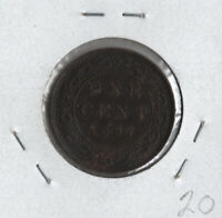 1897 Canada LARGE Cent Coin -  Extra Fine/Almost Uncirculated Victoria Penny!