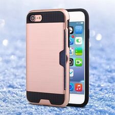 iPhone 6 ,6s Case Slim Armour Hybrid Hard Cover Case with Credit Card Holder