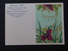 Ancienne carte parfumée calendrier 1987 FLORAMYE LT PIVER Paris ANGERS