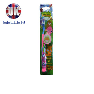 CHILDRENS MOSHI MONSTERS SOFT TOOTHBRUSH WITH CAP TRAVEL KIT - PINK 3YEARS PLUS