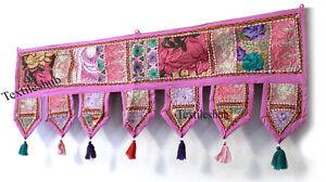 New Embroidery Patchwork Toran Handmade Indian Wall Hanging Vintage Door Valance