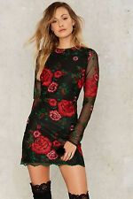 Nasty Gal collection Get Sprung Embroidered Mini Dress small new with tags