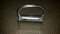 1960's Harry Levine ( H L) Silver Evening Cocktail Bag Purse with Rhinestones
