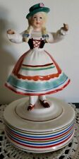 "Schmid Porcelain ~ German Girl Music Box ~ Plays ""You, You're Lying in my Heart"""