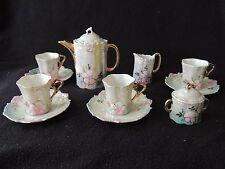 Ancienne Dinette d'enfants / Poupée en porcelaine à décor de fleurs 1900 tasse
