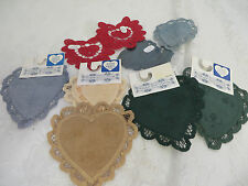 Wimpole Street Creations Heart Fabric & Battenburg Doily 10 Lot Linen Cotton New