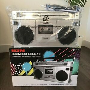 ION Audio Portable Retro-Style BoomBox Deluxe w/ Wireless Streaming NEW