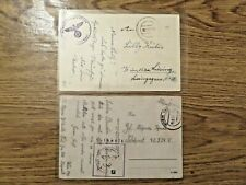 More details for 1941 german reich two vintage postcard /fieldpost wwii