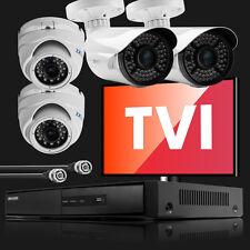 4 Analog HD New Night Vision Camera Hikvision 4 CH DVR Complete AHD TVI CCTV Set