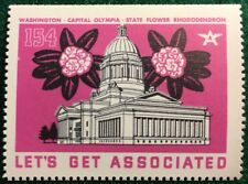 #154 Washington State Capital Olympia, Let's Get Associated - Flying A Gas & Oil
