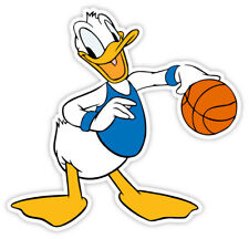 "Donald Duck basketball sticker decal 4"" x 4"""