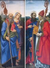"""perfect 24x72X 2 pieces oil painting handpainted on canvas""""Saints"""" NO6072"""