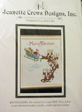 """""""OVER THE ROOFTOP- SANTA!""""- Counted X-Stitch Kit by Jeanette Crews Designs"""