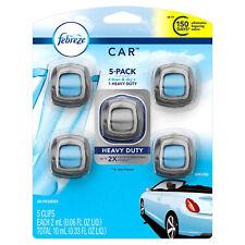 5 Febreze Car Vent Clips, Air Freshener,Eliminates Ordors,Scent: Linen Sky Scent