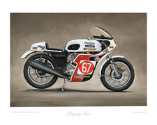 Slippery Sam Triumph Trident Limited Edition Collectors Art Print by Steve Dunn
