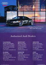 2013 Audi R8 Coupe  -   Classic Vintage Advertisement Car Ad J12