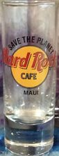 "Hard Rock Cafe MAUI 4"" SHOT GLASS Save The Planet HRC ""STP"" Logo Cordial 3rd Gen"