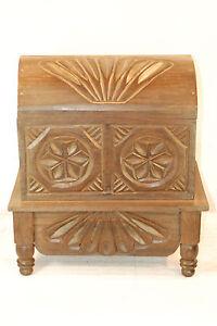 DARK   GUATEMALAN  ROUND TOP  CHEST=  Hand carved