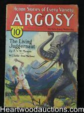 Argosy Jul 25, 1931 Wild Elephant Attack Cvr,