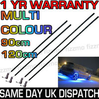 LED Car Strip Under Light Neon Flexible Multi Colour Rainbow Remote 90cm 120cm