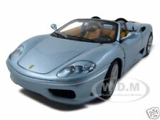 ELITE FERRARI 360 MODENA SPIDER ITALIAN JOB MOVIE BLUE 1/18 BY HOTWHEELS P9905