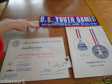 1969 US Youth Games Track and Field Championships program Washington DC &sticker