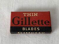 Vintage NOS sin Abrir en Caja Paquete de 4 X Gillette Fina Doble Filo Cuchilla
