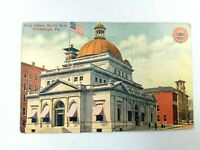Vintage Postcard Post Office North Side Pittsburgh PA Posted 1912 Fort Pitt Pub.