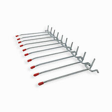 100 Pack 2 Inch Peg Hook Set Storage Metal Hook Hanging Hook Rubber Tip