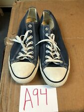 Converse Low Top All Stars Chuck Navy & White M9697 Womens 13 Mens 11