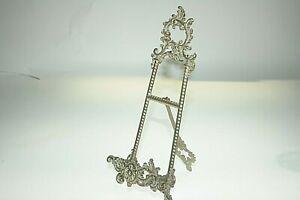 "Vintage Look Art Nouveau Brass Easel Picture / Photo Stand Holder Ht 24cm / 9.5"""