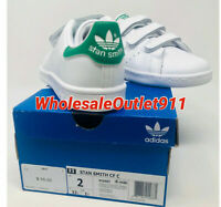 $55 New Adidas Little Kids Originals Stan Smith Size 2 Sneakers White Shoes