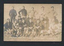 1907 ALLIANCE FOOTBALL TEAM (Nebraska) Semi-Pro Vintage Real Photo Postcard
